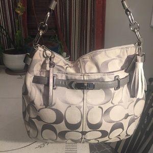 Coach Grey & Silver Bag